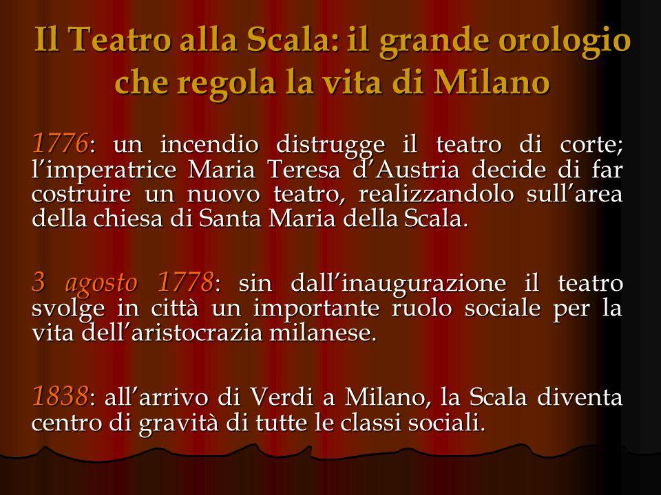 Il Teatro alla Scala: il grande orologio che regola la vita di Milano