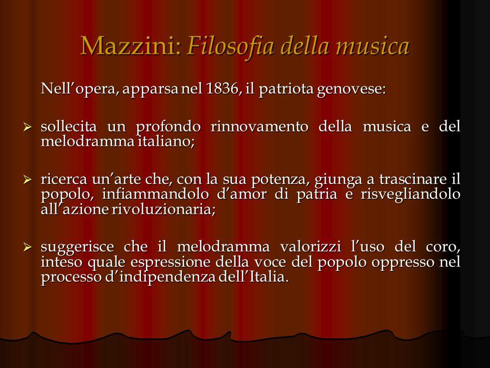 Mazzini: Filosofia della musica
