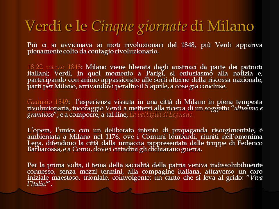 Verdi e le Cinque giornate di Milano