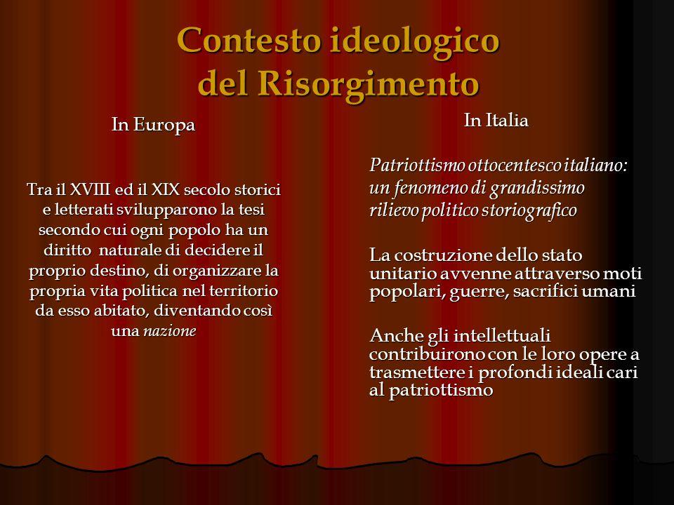 Contesto ideologico del Risorgimento