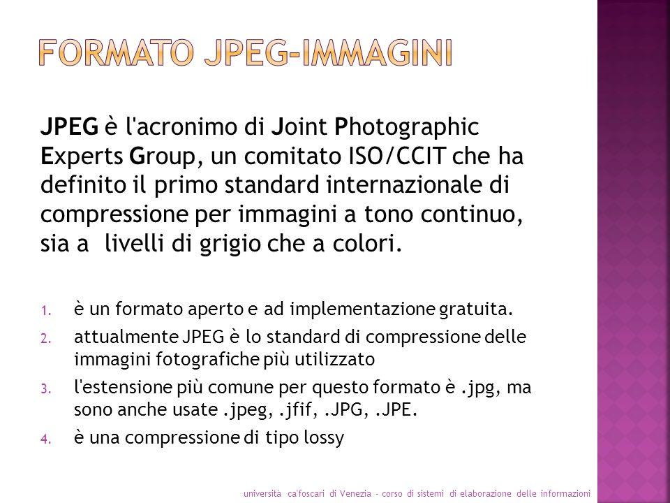 Formato jpeg-immagini