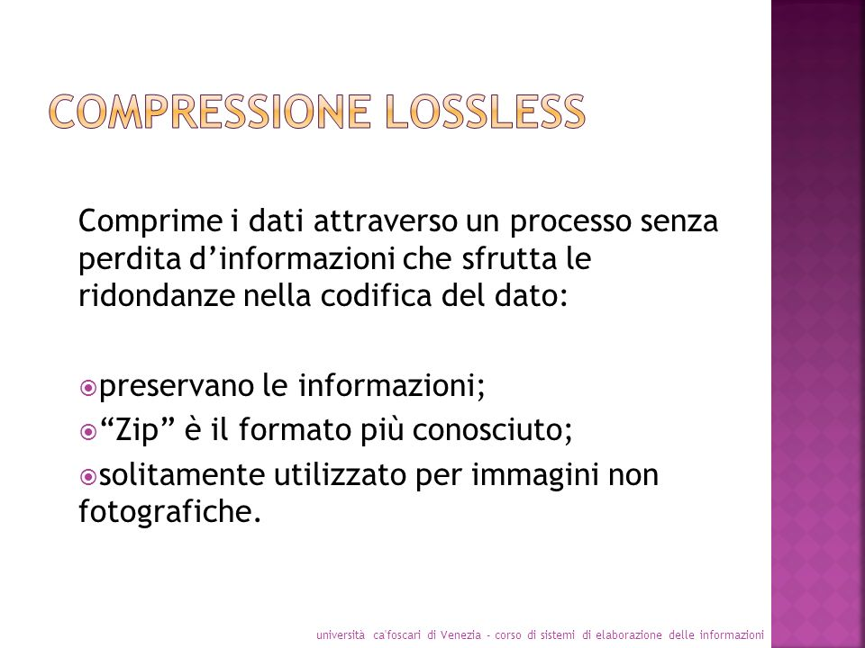 Compressione lossless