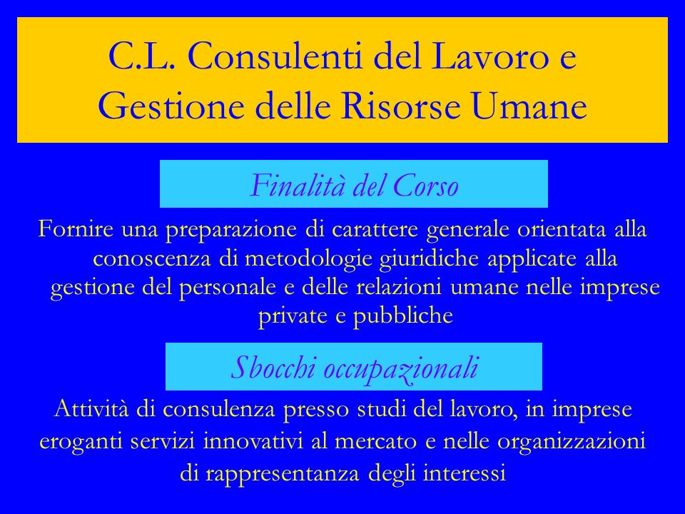 C.L. Consulenti del Lavoro e Gestione delle Risorse Umane
