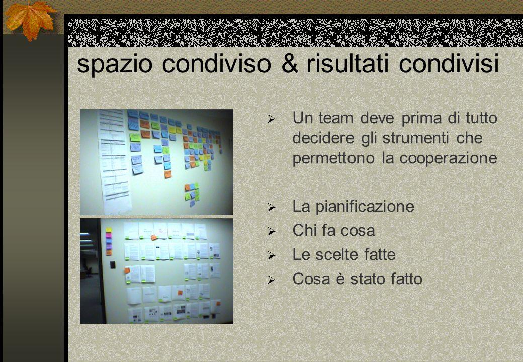spazio condiviso & risultati condivisi