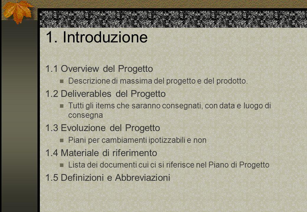 1. Introduzione 1.1 Overview del Progetto