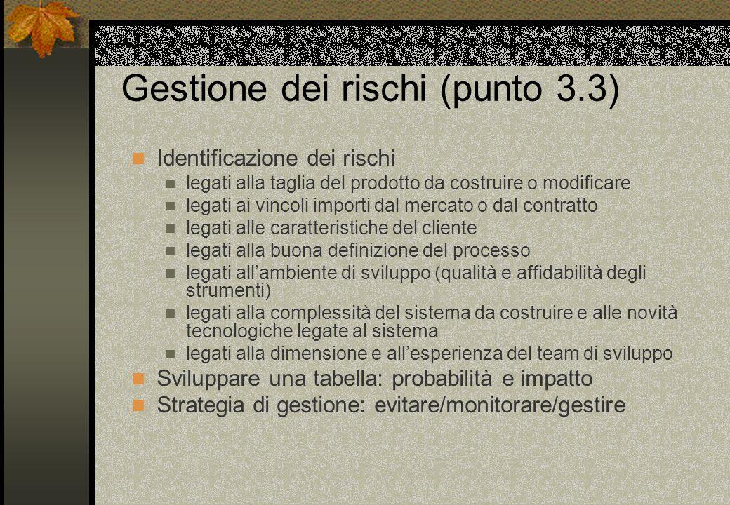 Gestione dei rischi (punto 3.3)