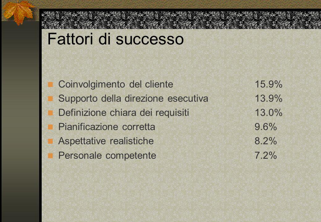 Fattori di successo Coinvolgimento del cliente 15.9%