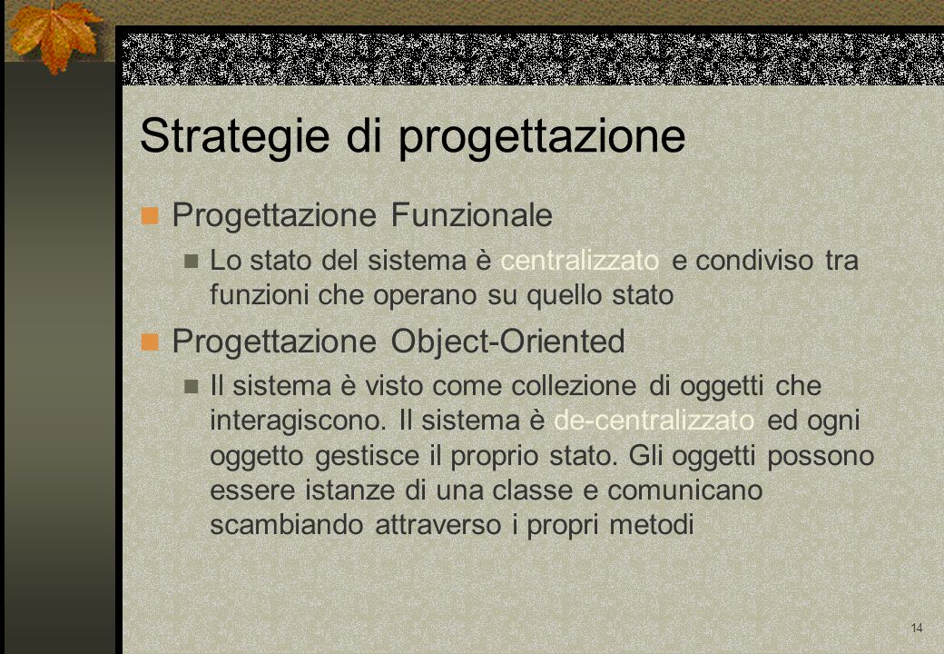 Strategie di progettazione