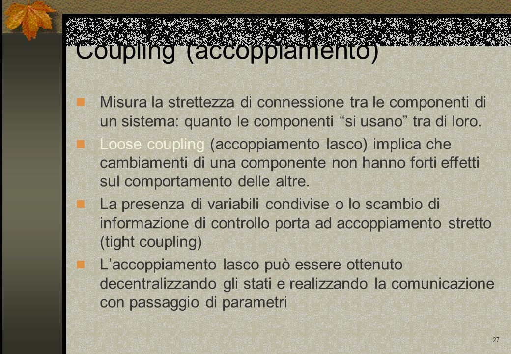 Coupling (accoppiamento)