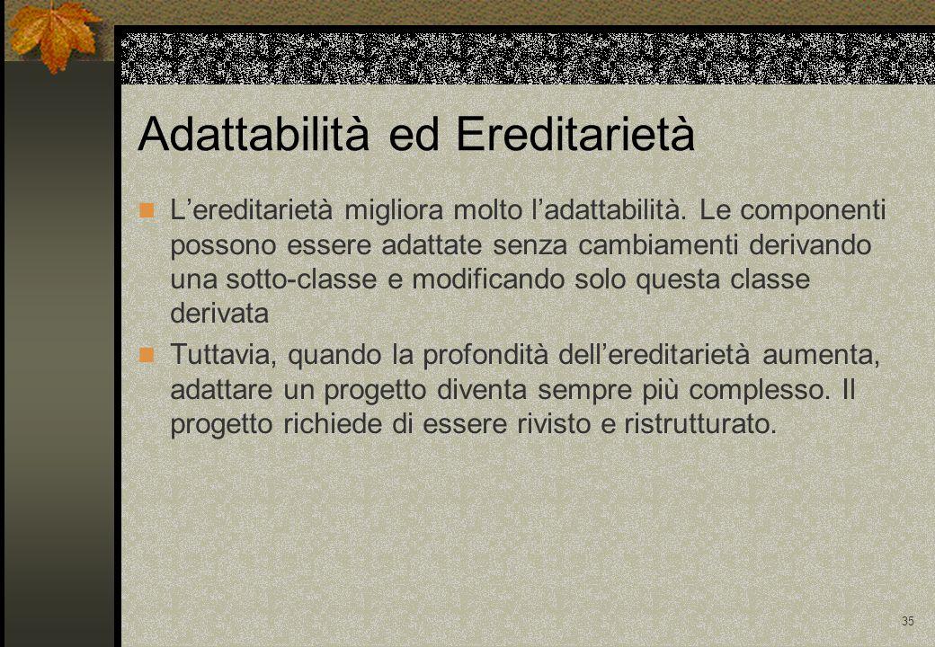 Adattabilità ed Ereditarietà