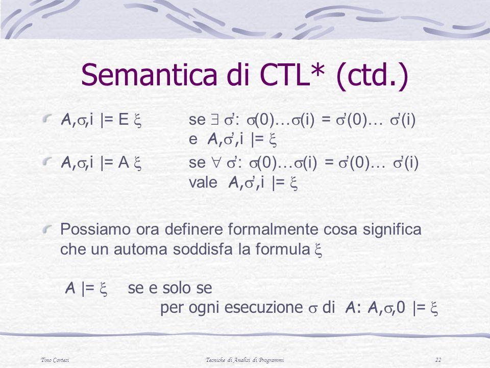 Semantica di CTL* (ctd.)