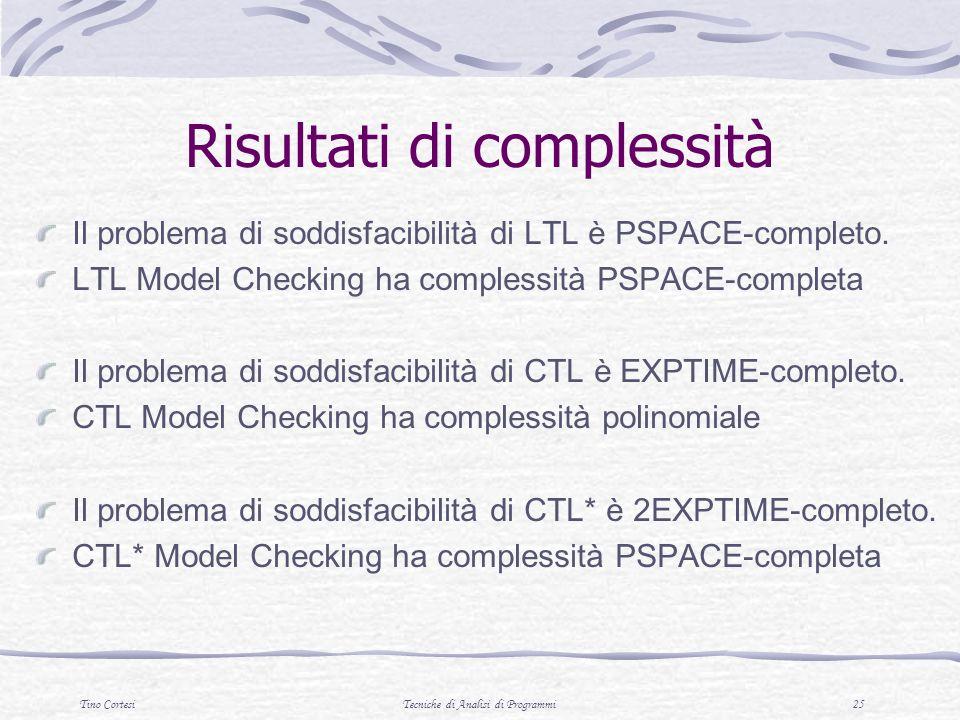Risultati di complessità