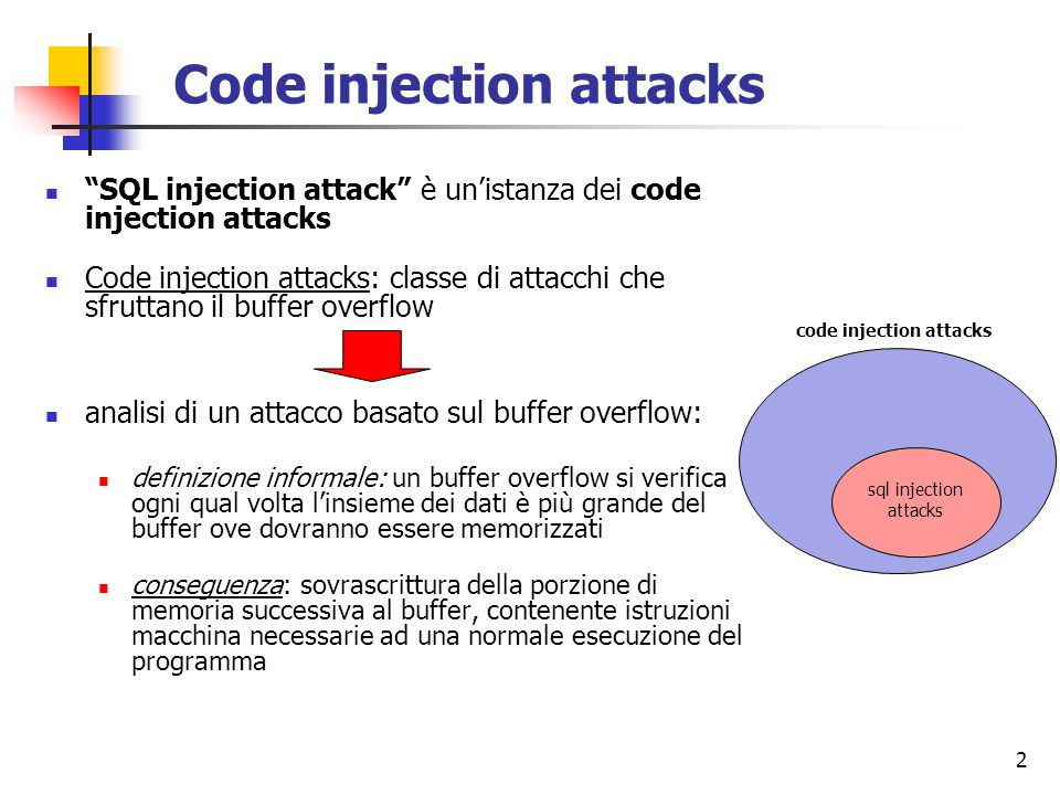 Code injection attacks