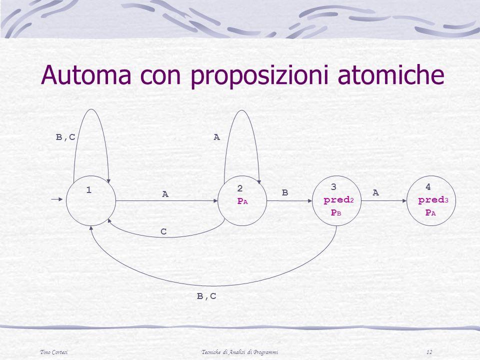 Automa con proposizioni atomiche