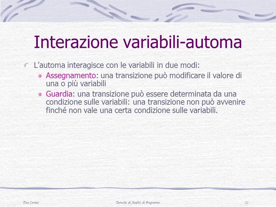 Interazione variabili-automa