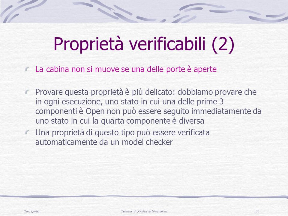 Proprietà verificabili (2)