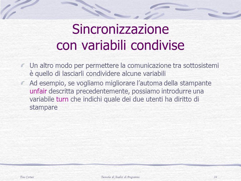 Sincronizzazione con variabili condivise