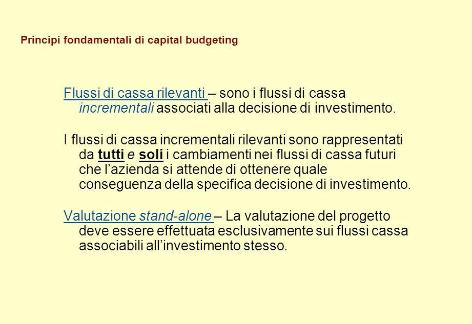 Principi fondamentali di capital budgeting