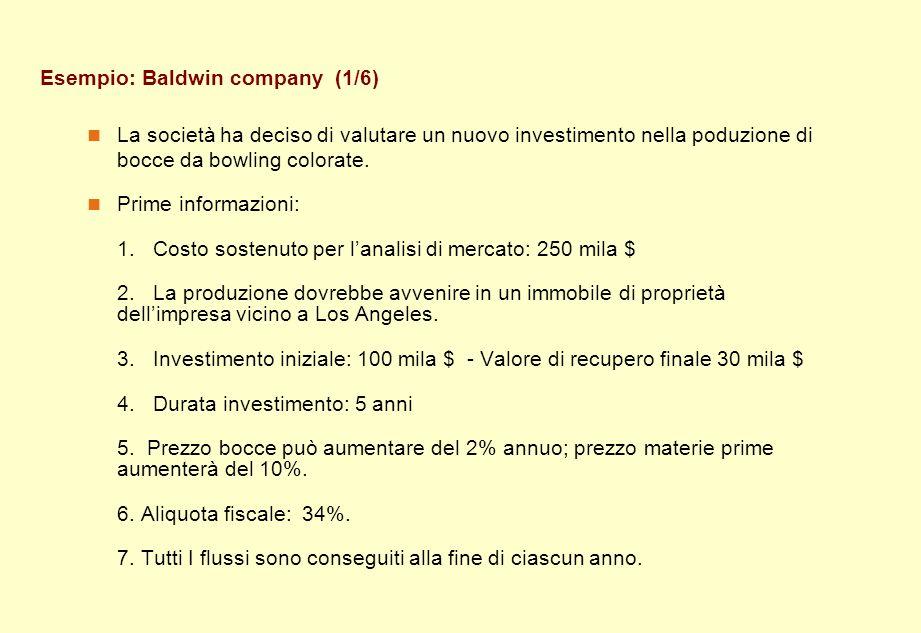 Esempio: Baldwin company (1/6)