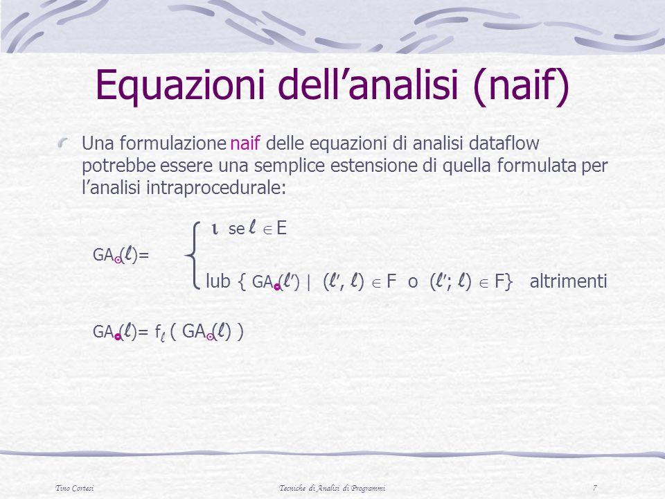 Equazioni dell'analisi (naif)