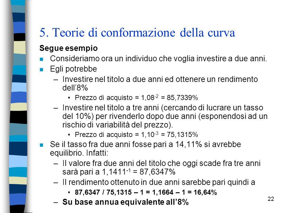 5. Teorie di conformazione della curva