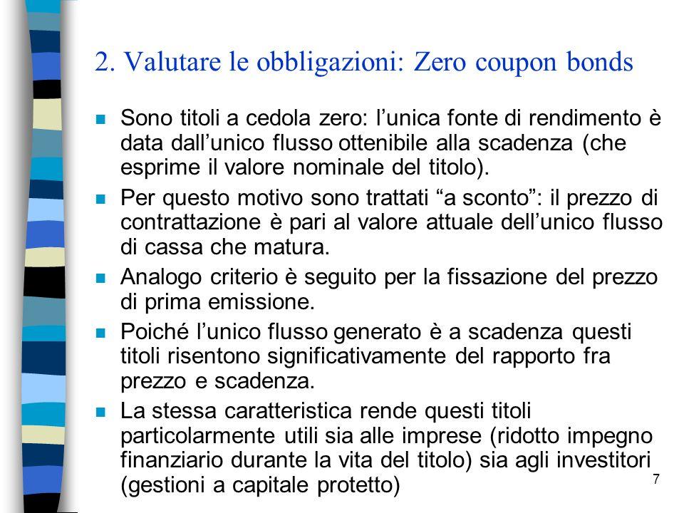 2. Valutare le obbligazioni: Zero coupon bonds