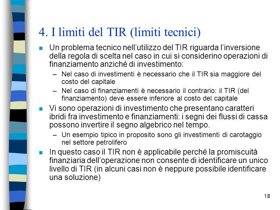 4. I limiti del TIR (limiti tecnici)