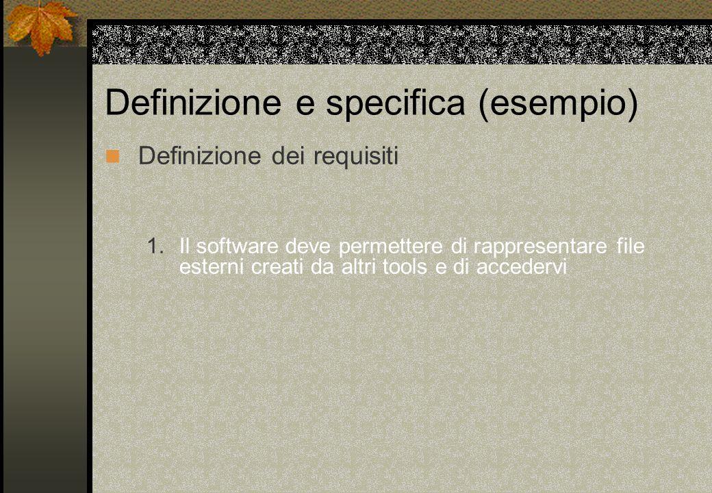 Definizione e specifica (esempio)