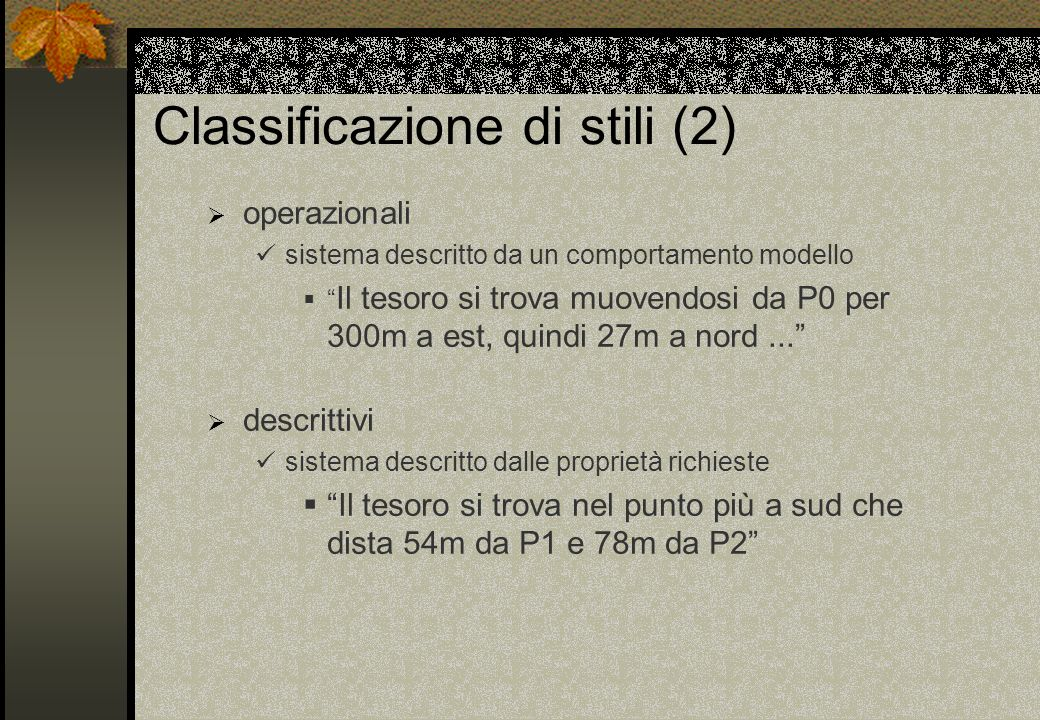 Classificazione di stili (2)