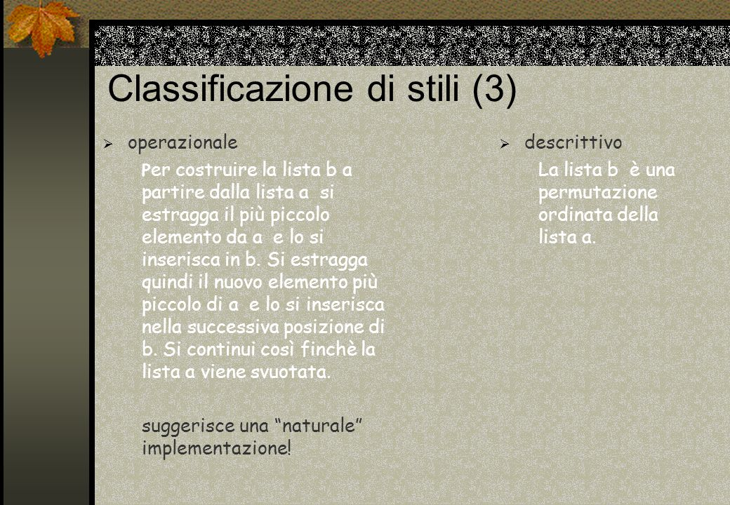 Classificazione di stili (3)