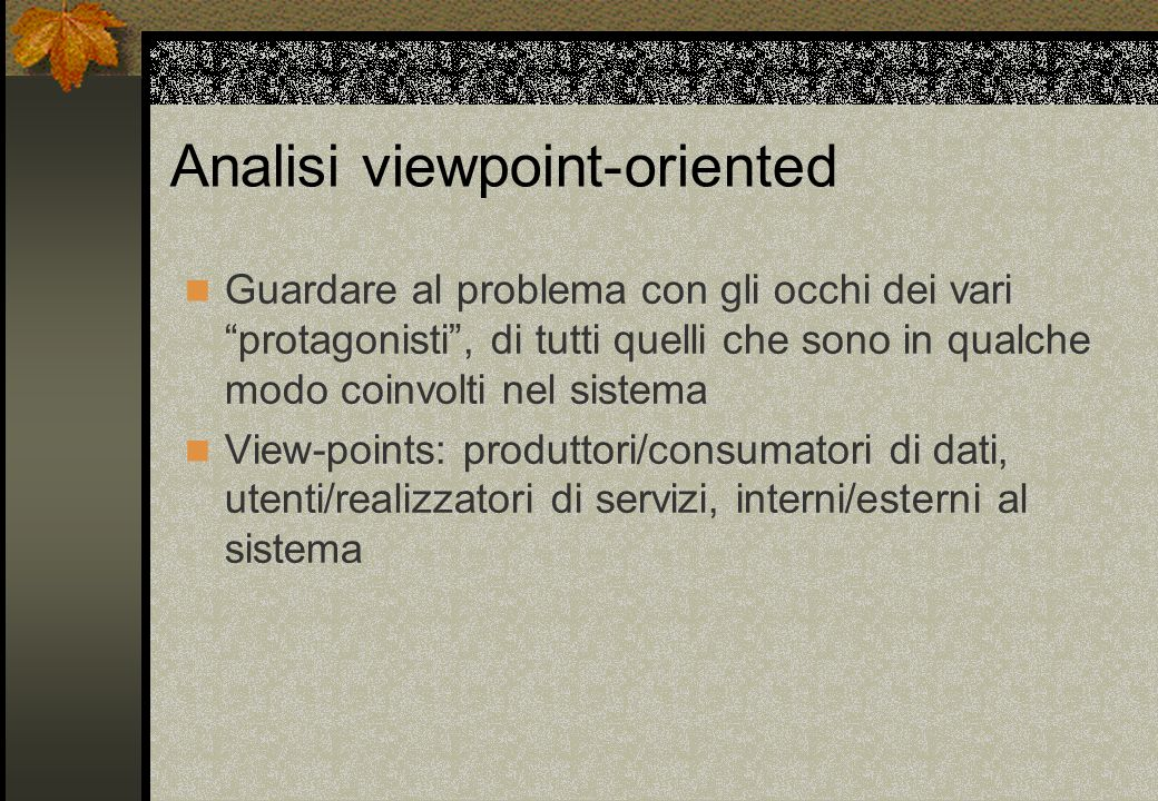 Analisi viewpoint-oriented