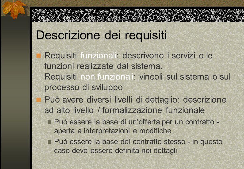 Descrizione dei requisiti