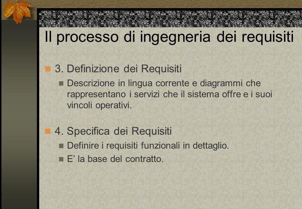 Il processo di ingegneria dei requisiti