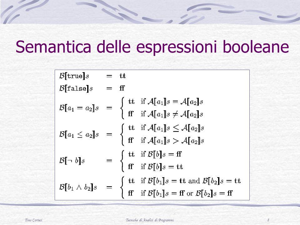 Semantica delle espressioni booleane