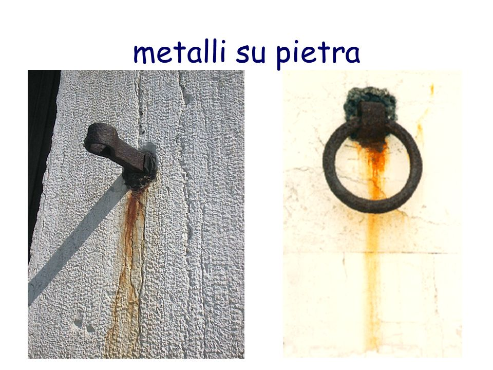 metalli su pietra