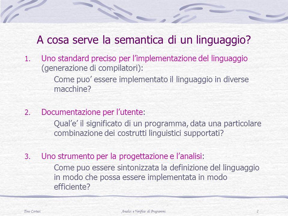 A cosa serve la semantica di un linguaggio