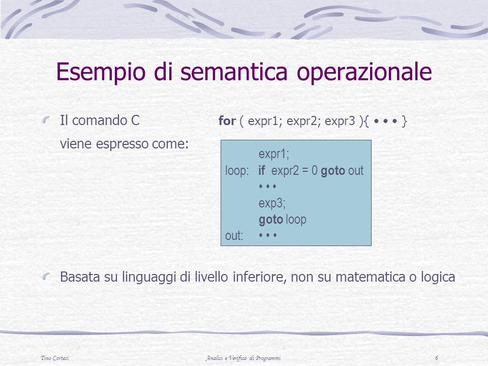 Esempio di semantica operazionale