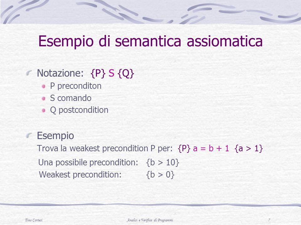 Esempio di semantica assiomatica