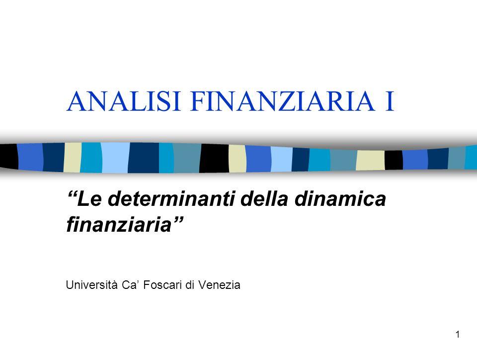 ANALISI FINANZIARIA I Le determinanti della dinamica finanziaria