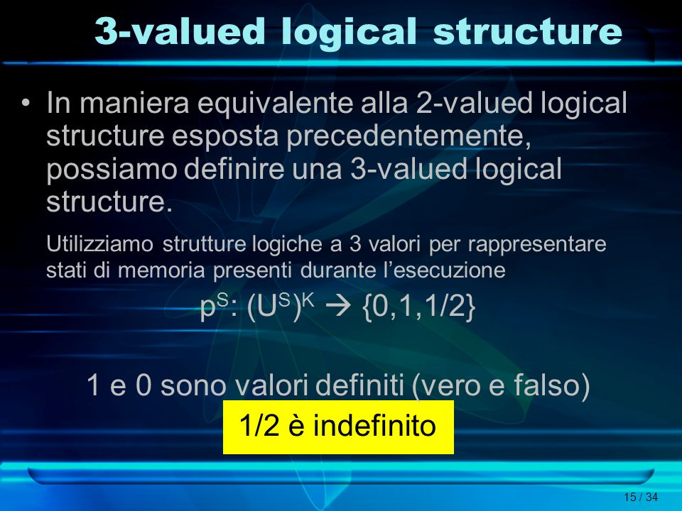 3-valued logical structure