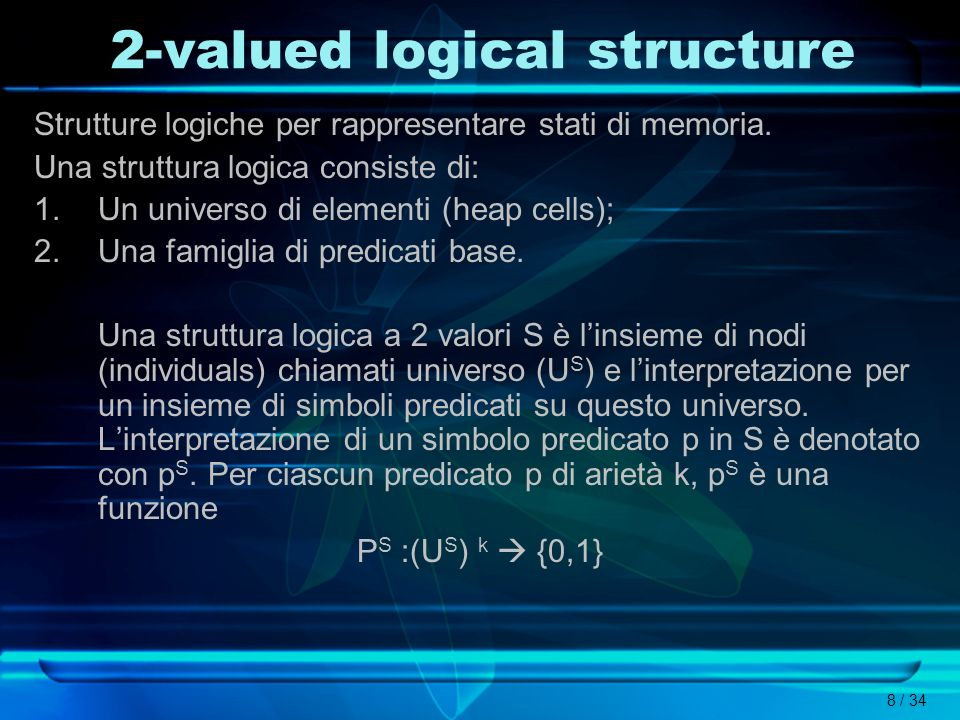 2-valued logical structure