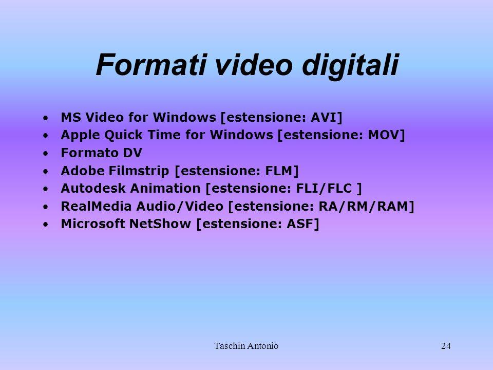 Formati video digitali