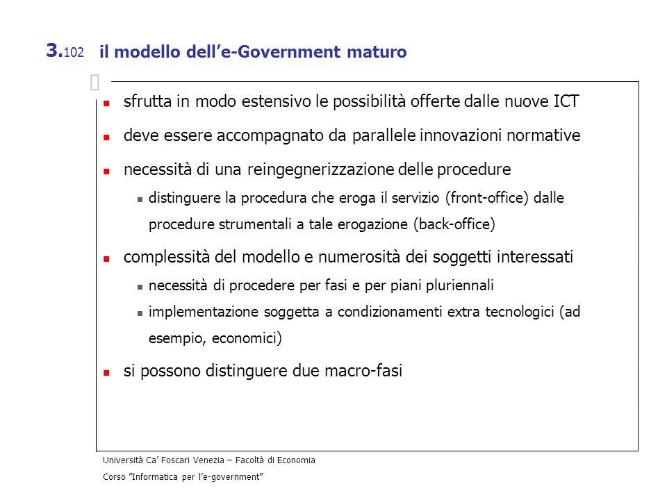 il modello dell'e-Government maturo