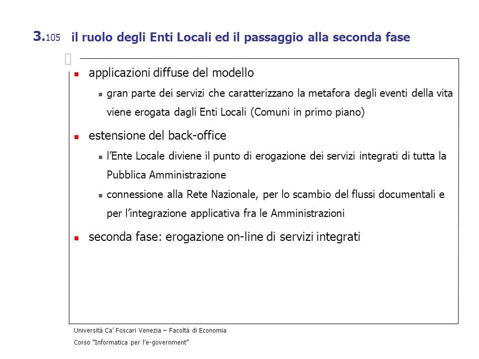 il ruolo degli Enti Locali ed il passaggio alla seconda fase