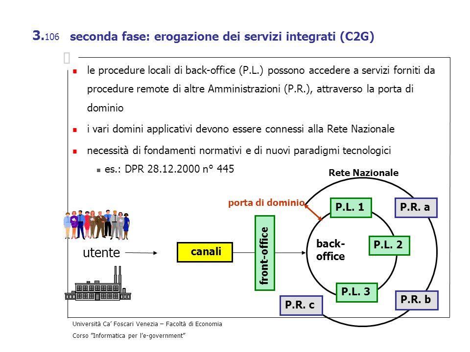 seconda fase: erogazione dei servizi integrati (C2G)
