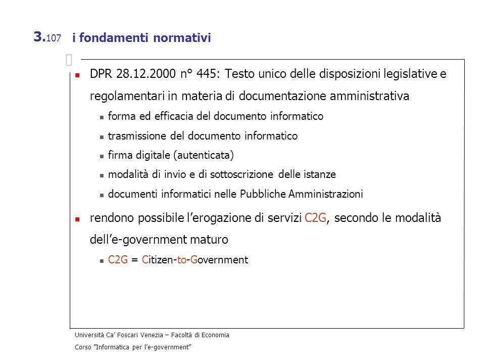 i fondamenti normativi