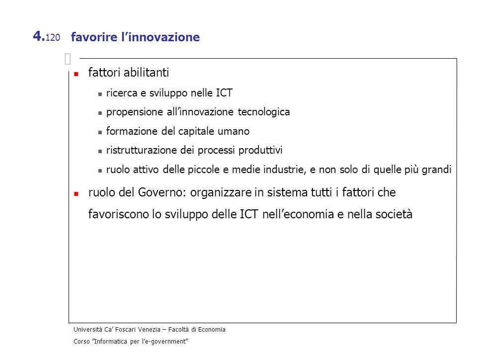 favorire l'innovazione