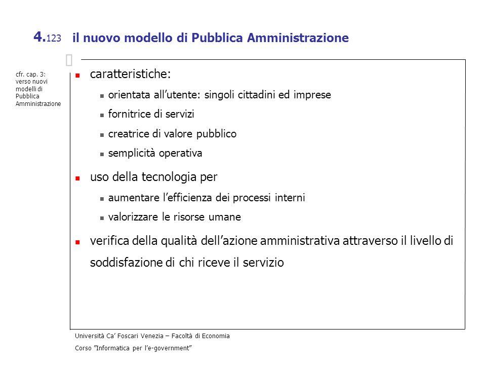 il nuovo modello di Pubblica Amministrazione