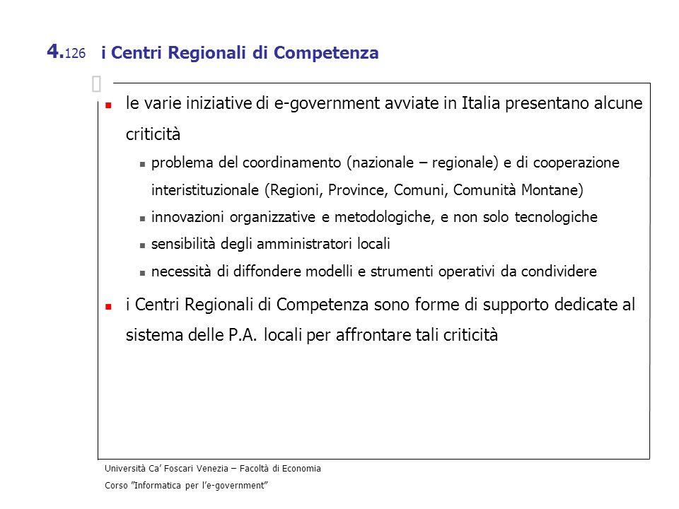 i Centri Regionali di Competenza