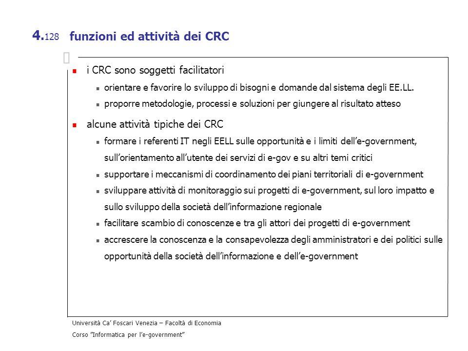 funzioni ed attività dei CRC